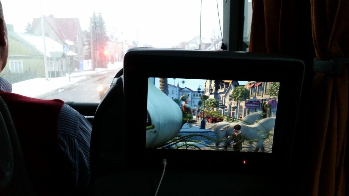 ECOLINES autobusuose labai platus filmų pasirinkimas