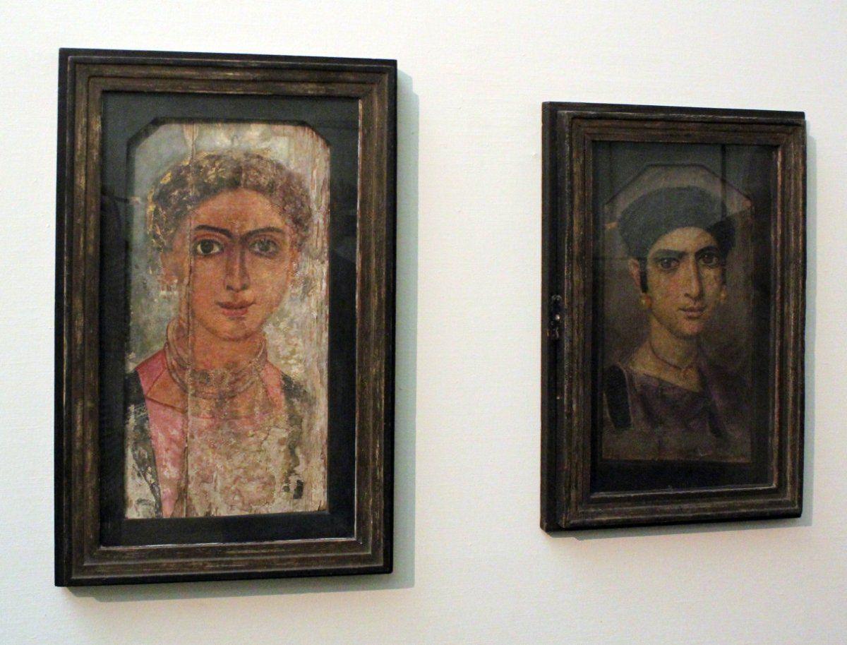 Fajumo oazės realistiniai portretai