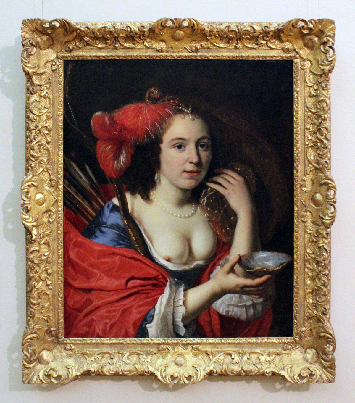 "Bartholomeus van der Helst ""Dailininko žmonos Annos du Pire potretas Granidos vaidmenyje"""