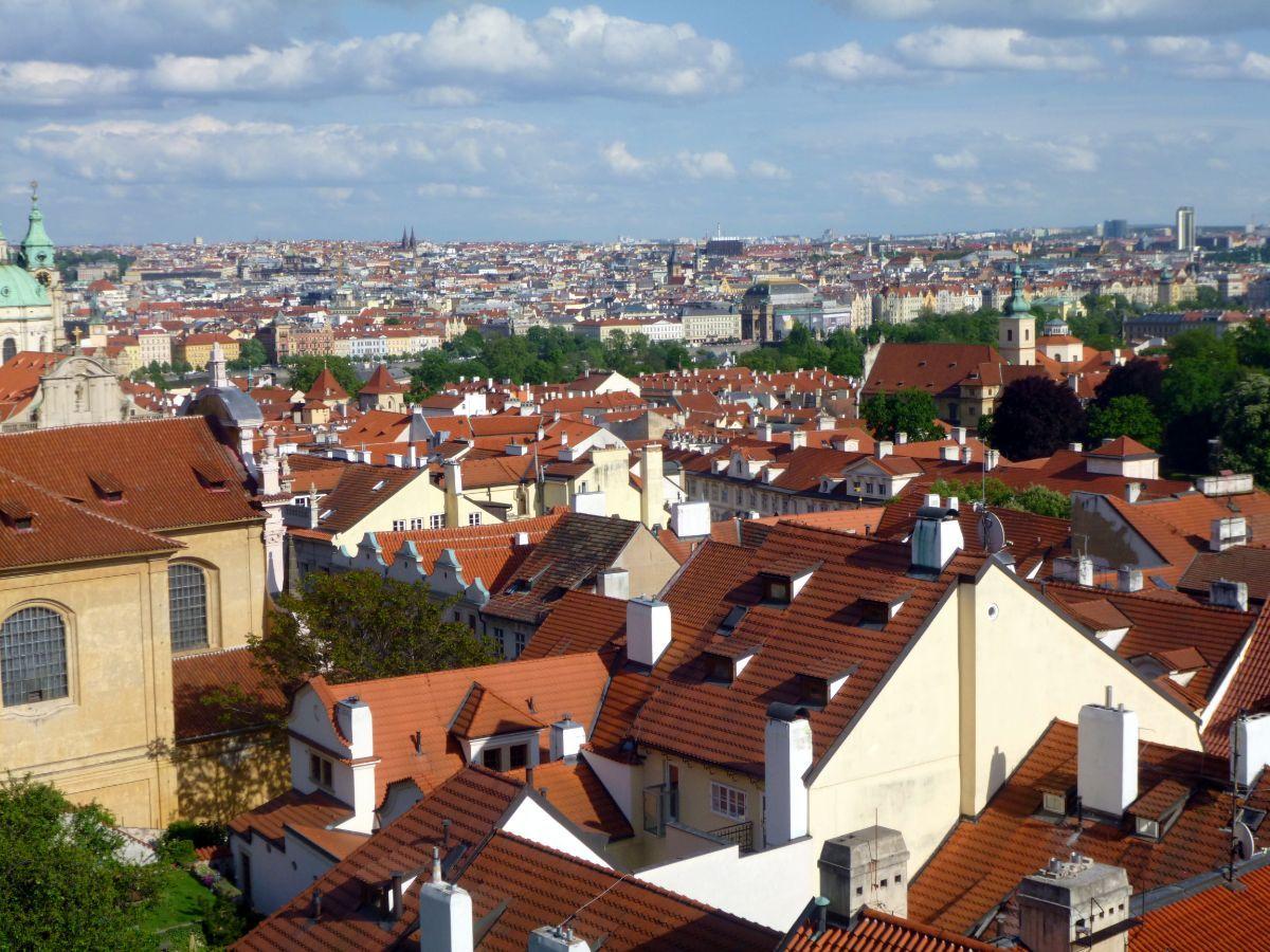 Prahos miesto panorama