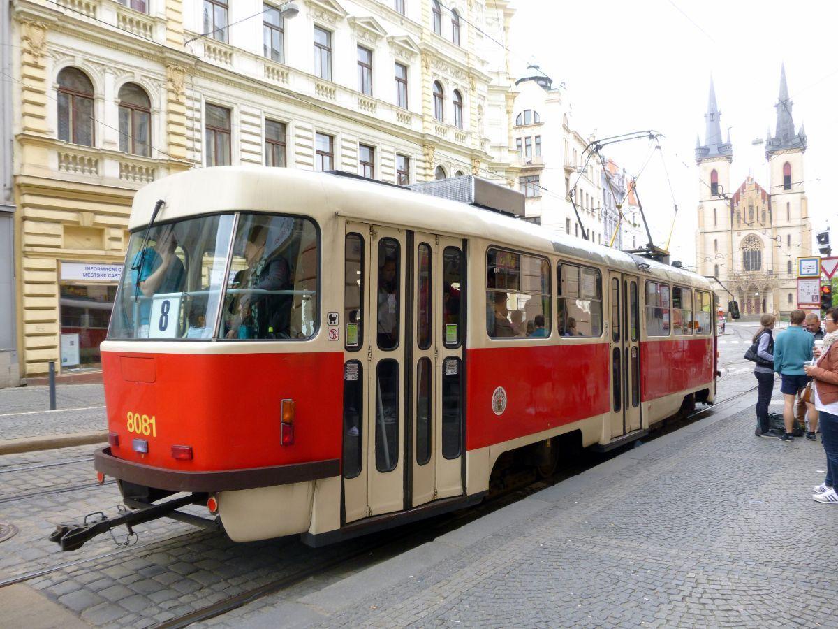 Linksmas tramvajus Prahoje
