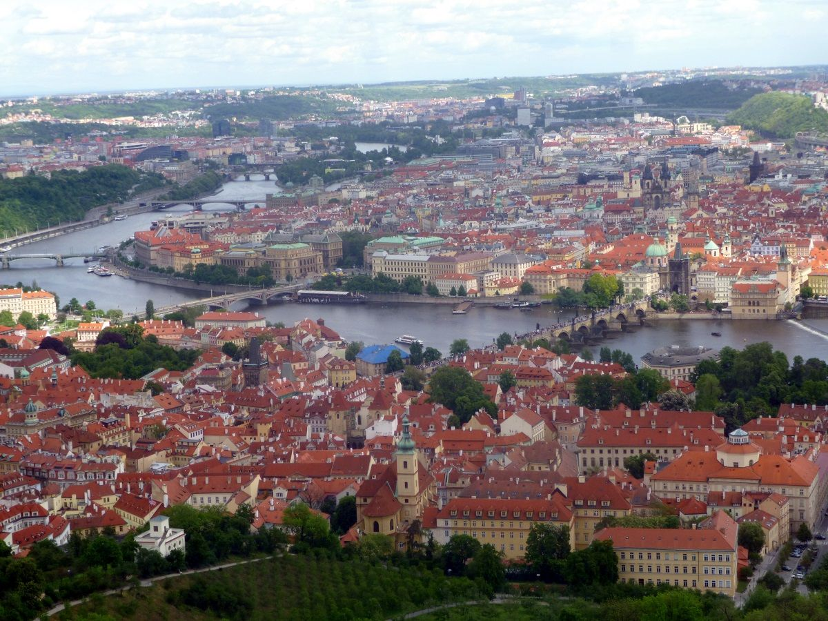 Nuostabi Prahos panorama